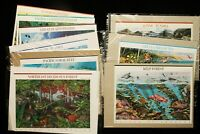 US STAMP SHEETS  $ 33.80 FACE NATURE OF AM. 1 2 3 5 6 7 9 10