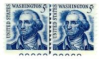 US 1966 SCOTT 1304 LINE PAIR WITH PLATE NUMBERS MINT NH