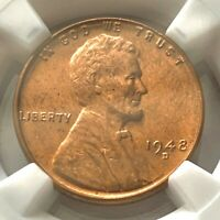 1948-D LINCOLN CENT | NGC MINT STATE 65 RD | WHEAT EARS REVERSE