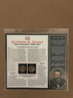 2011 ULYSSES S. GRANT 18TH PRESIDENT 1869-1877 SHEET P&D $1 COINS WITH BIOGRAPHY