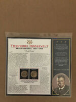 2013 THEODORE ROOSEVELT 26TH PRESIDENT 1901-1909 SHEET P&D$1COINS WITH BIOGRAPHY