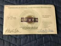 2007 GEORGE WASHINGTON PRESIDENTIAL COIN DOLLAR WITH CERTIFICATE