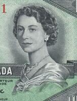 1954 BANK OF CANADA QEII $1   DEVILS FACE