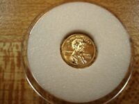 14K GOLD MINIATURE LINCOLN CENT. UNCIRCULATED  1909 1982 5/1