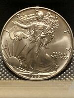 SUPER QUALITY 1986 AMERICAN SILVER EAGLE NO ISSUES ALL POSITIVE SHINY BRIGHT