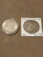LOT OF 2 MORGAN SILVER DOLLARS DATED 1879-S AND 1921