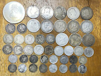 LOT OF  46  CANADA JUNK 925 STERLING SILVER COINS 148G 4.4 A