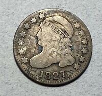 1827 CAPPED BUST 10C DIME