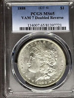 1888 P PCGS MINT STATE 65 VAM 7 DOUBLED REVERSE HOT 50 MORGAN SILVER DOLLAR COIN