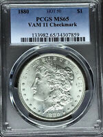 1880 P PCGS MINT STATE 65 VAM 11 CHECKMARK HOT 50 MORGAN SILVER DOLLAR COIN