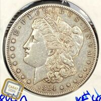 1884-S MORGAN DOLLAR SILVER $1 EXTRA FINE  EXTRA FINE COIN SAN FRANCISCO MINT KEY DATE