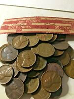 LINCOLN WHEAT CENT PENNY ROLL, 1940'S & 1950'S
