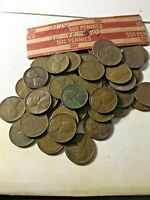 LINCOLN WHEAT CENT PENNY MIXED ROLL, 1930'S 1940'S & 1950'S