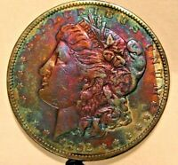 1892 MORGAN SILVER DOLLAR  AU DETAILS  NATURALLY TONED   FIND