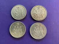 1962 1963 X 3 CANADA 50 CENT COINS