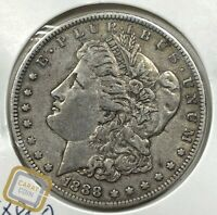 1888-O MORGAN SILVER DOLLAR EXTRA FINE  EF EXTRA FINE KEY DATE  NEW ORLEANS COIN S$1