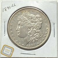 1891-CC MORGAN DOLLAR AU ABOUT UNCIRCULATED CARSON CITY KEY DATE COIN  S$1