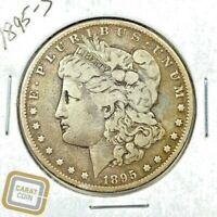 1895-S S$1 SILVER MORGAN DOLLAR VF  FINE SAN FRANCISCO MINT COIN KEY DATE