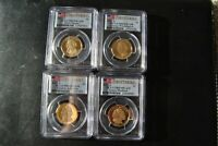 2007-S PRESIDENTIAL PROOF DOLLAR SET, 4 PCGS PR-69 DCAM FIRST STRIKE