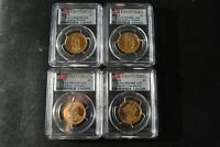 2008-S PRESIDENTIAL PROOF DOLLAR SET, 4 PCGS PR-69 DCAM FIRST STRIKE
