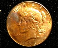 1923-S PEACE DOLLAR NATUALLY TONED
