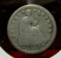 1853 SEATED LIBERTY HALF DIME - WITH  ARROWS