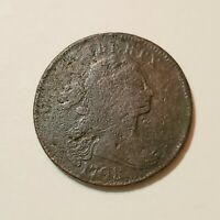 1798 DRAPED BUST LARGE CENT IN FINE DETAIL 2ND HAIR STYLE