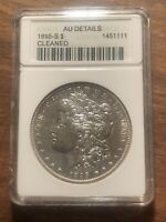 1895- S MORGAN SILVER DOLLAR $1 COIN KEY DATE ANACS AU DETAILS OLD HOLDER