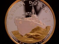 2010 CANADA 'CANADIAN NAVY CENTENNIAL' SILVER   GOLD PLATED