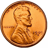 1949-S LINCOLN WHEAT CENT PENNY RED GEM, BU, FAST SHIPS FREE 3308