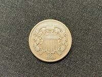 1865 TWO CENT PIECE   2 CENTS