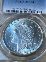 1885-O US MORGAN DOLLAR GRADED MINT STATE 64 BY PCGS