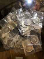 CANADA  DOLLAR SILVER EXTRA FINE CONDITION ROLL OF 20. SILVE