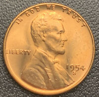 1954S RD LINCOLN WHEAT CENT PENNY, GEM BU, EXACT COIN, FAST SHIPS FREE3595