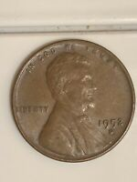 1952 D LINCOLN CENT-DDO,  SCRATCH IN GOD.