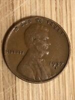 1937S LINCOLN WHEAT CENT-DDO, PARTIALLY MISSING LETTERS REVERSE.