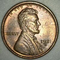 1921 S LINCOLN WHEAT CENT COIN ONE CENT PENNY US COIN UNCIRCULATED 1C