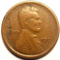 1921-S LINCOLN WHEAT CENT CIRCULATED  GOOD CONDITION  CM_230