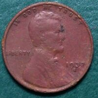 1937 S LINCOLN WHEAT CENT, CIRCULATED, ACTUAL COIN SHOWN