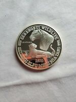 1998 5OZ TANZANIA 2500 SHILINGS WILDLIFE LEOPARD ANIMAL SERIES PROOF SILVER COIN
