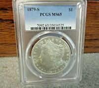 1879-S MORGAN SILVER DOLLAR PCGS : MINT STATE 65