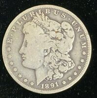 1891 NEW ORLEANS MORGAN .900 SILVER DOLLAR $1 UNITED STATES COIN CO823