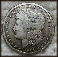 1886-S 1$ MORGAN SILVER DOLLAR VG