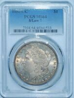 1880 CC PCGS MINT STATE 64 8/7 LOW 7 VAM-6 TOP-100 CARSON CITY MORGAN SILVER DOLLAR