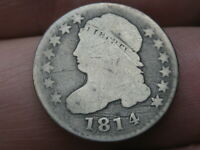 1814 CAPPED BUST SILVER DIME- STATESOFAMERICA, STATESOF VARIETY