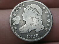 1828 SILVER CAPPED BUST DIME- VG DETAILS, SMALL DATE
