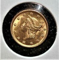 1854 US GOLD ONE DOLLAR COIN TYPE I VARIETY LOOKS NICE