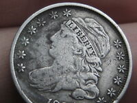 1835 SILVER CAPPED BUST DIME- VF DETAILS
