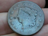 1821 OR 1831 MATRON HEAD LARGE CENT PENNY