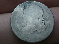 1809-1828 SILVER CAPPED BUST DIME- LOWBALL, HEAVILY WORN